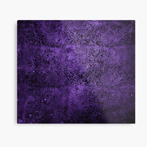 Purple Snake Skin Pattern Metal Print