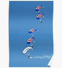 The Falcons parachute team Poster