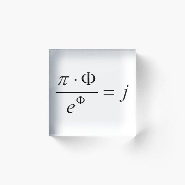 What comes first - idea or matter? This mathematical relationship provides an answer to this question. Acrylic Block