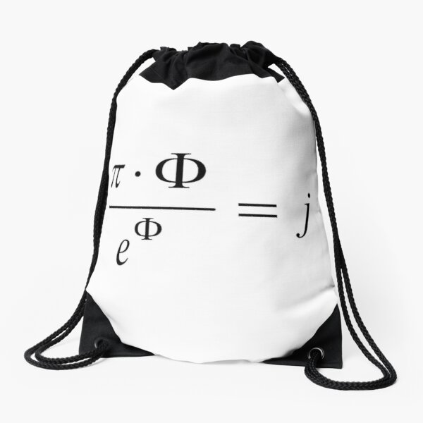 What comes first - idea or matter? This mathematical relationship provides an answer to this question. Drawstring Bag