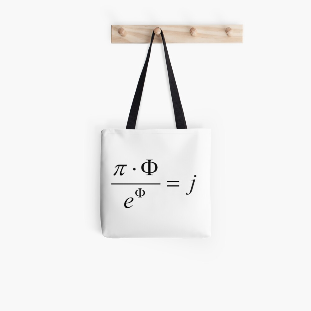 What comes first - idea or matter? This mathematical relationship provides an answer to this question. Tote Bag