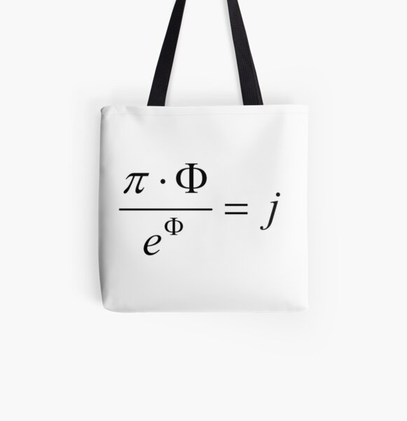 What comes first - idea or matter? This mathematical relationship provides an answer to this question. All Over Print Tote Bag