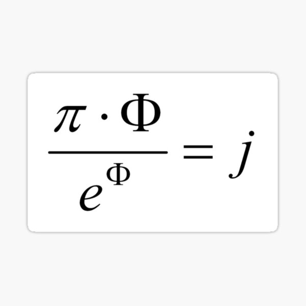 What comes first - idea or matter? This mathematical relationship provides an answer to this question. Sticker