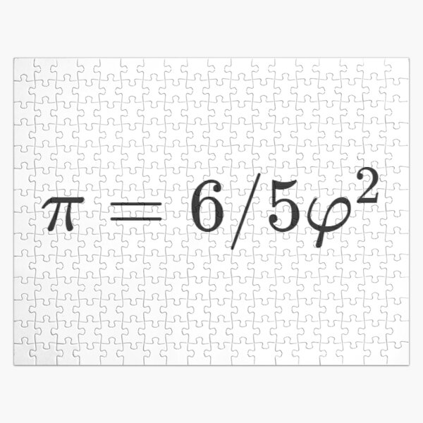 Why is there such a simple relationship between π and φ: π = 6/5 φ² ? Jigsaw Puzzle