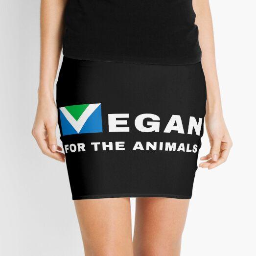 Vegano para los animales   Bandera Vegana   Activismo por los derechos de los animales   Fondo negro Minifalda