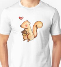 Squirrel Loves Acorn Unisex T-Shirt