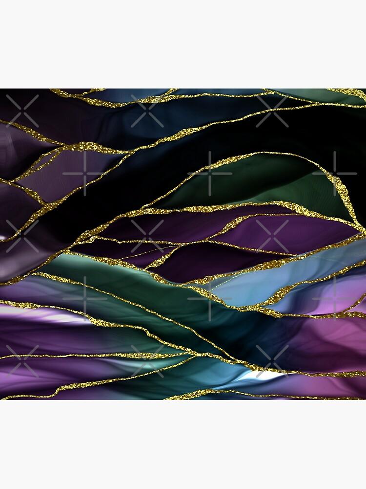 Purple Night Marble Landscape by MysticMarble