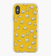 Indian Baby Elephants Yellow iPhone Case