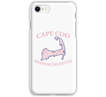 Preppy vineyard pink cape cod massachusetts map stickers for Case modello cape cod
