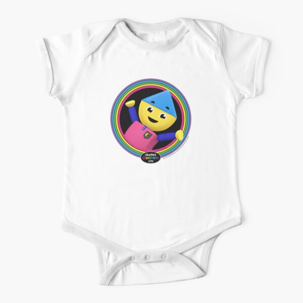 Charlie, Charlie's Colorforms City Short Sleeve Baby One-Piece