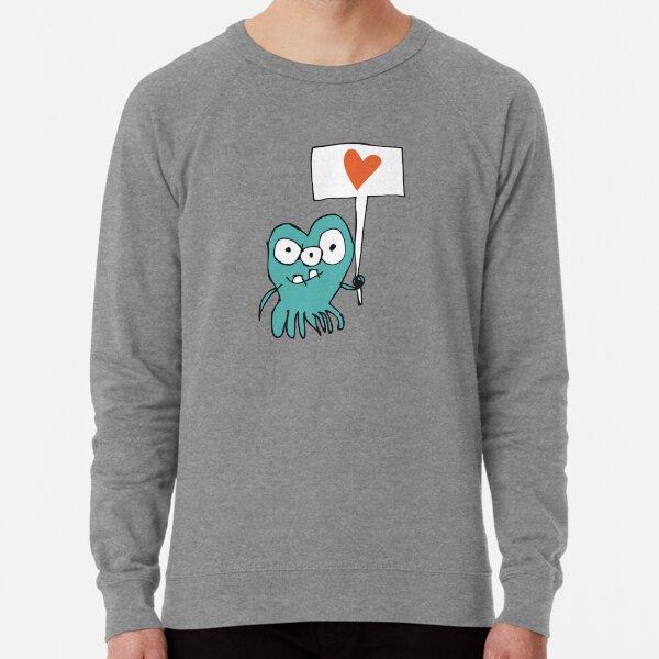 Monster mit Liebesbotschaft Leichter Pullover