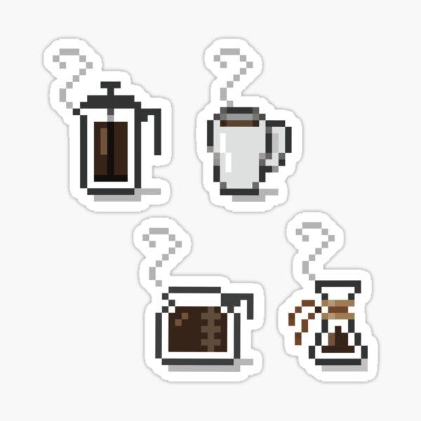 Pixel Coffee Sticker Pack Sticker