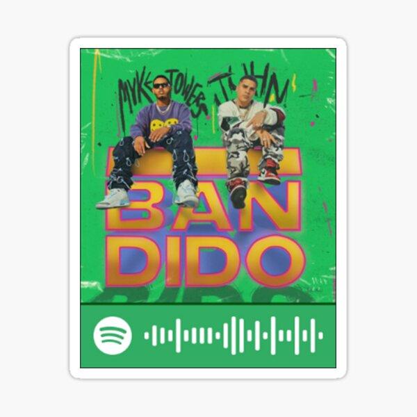 Myke Towers Bandido Spotify Code Pegatina