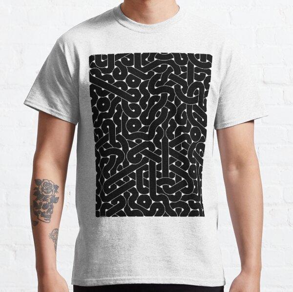 Abstract Black Hexagon Truchet Tiles #1 Classic T-Shirt