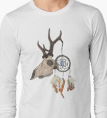 Animal Skull with dreamcatcher  Long Sleeve T-Shirt