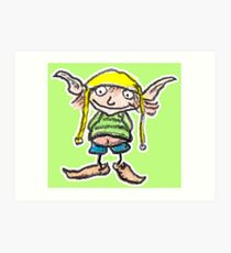 Gnome out of fairyland Art Print