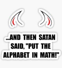 Alphabet In Math Sticker