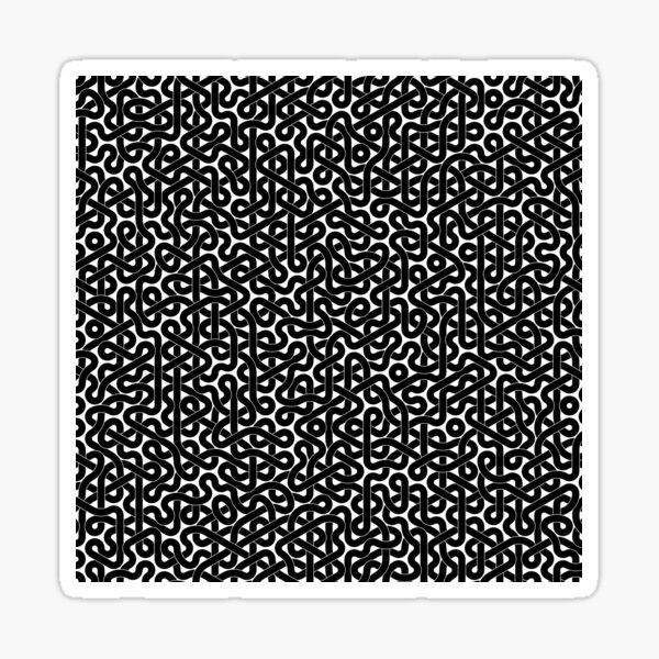 Abstract Black Hexagon Truchet Tiles #3 Sticker