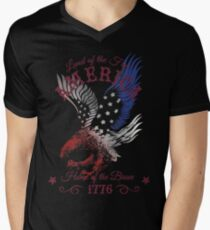 America - Land of the Free, Home of the Brave Quote T-Shirt