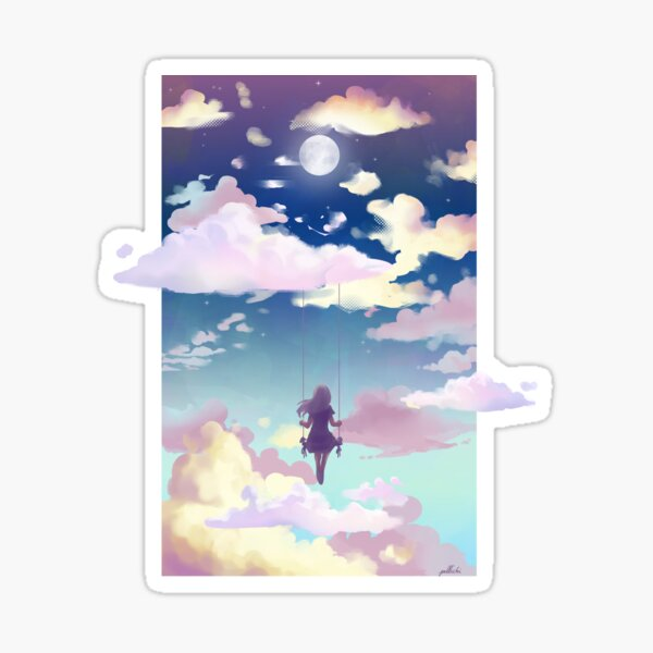 Sky swing (night) Sticker