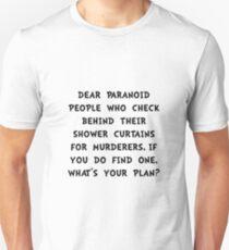Shower Curtain Murderers Unisex T-Shirt