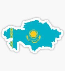 Flag Map of Kazakhstan  Sticker