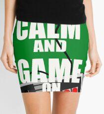 Keep Calm And Game On Mini Skirt