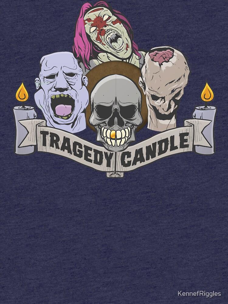 Nerdy Tee - Tragödie Kerze von KennefRiggles