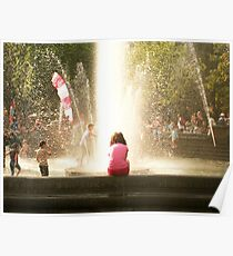 Girl at the Fountain Poster