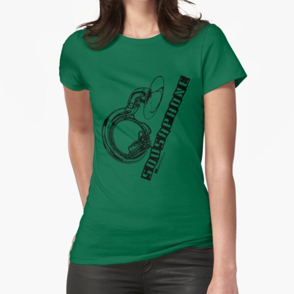 Label Me A Sousaphone (Black Lettering) Fitted T-Shirt