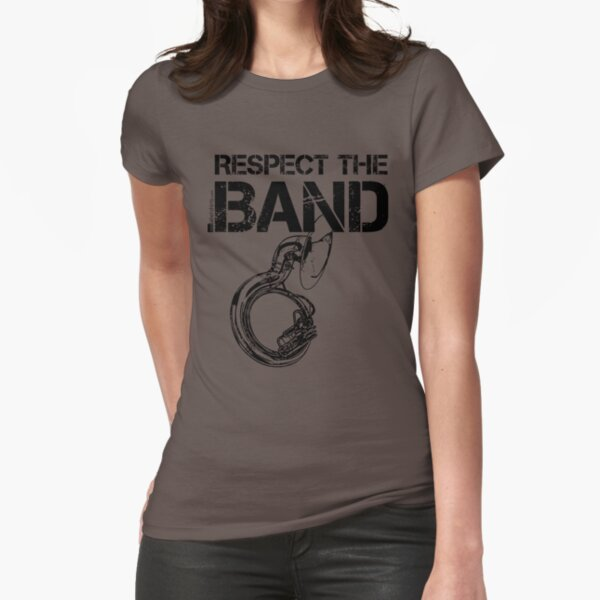 Respect The Band - Sousaphone (Black Lettering) Fitted T-Shirt