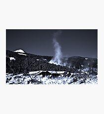 Snow Clouds - Mountain Ski Town Photographic Print