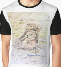 Otter and Baby Graphic T-Shirt