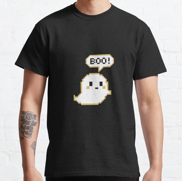 'Cute white ghost pixel art' Classic T-Shirt by Asa-design