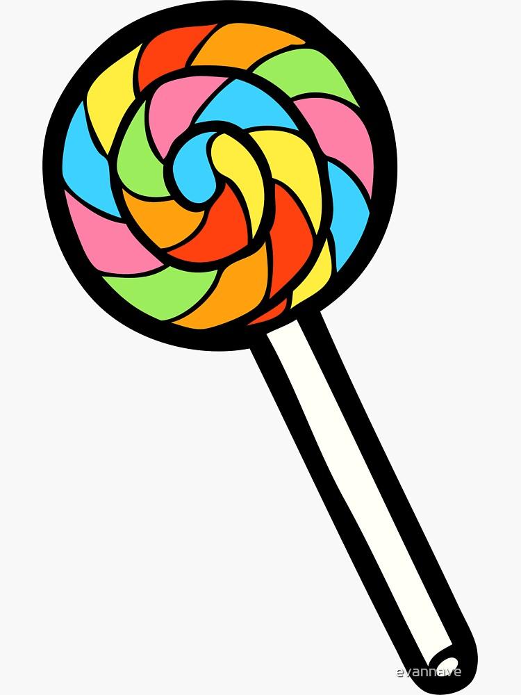 Rainbow Lollipop Pattern by evannave