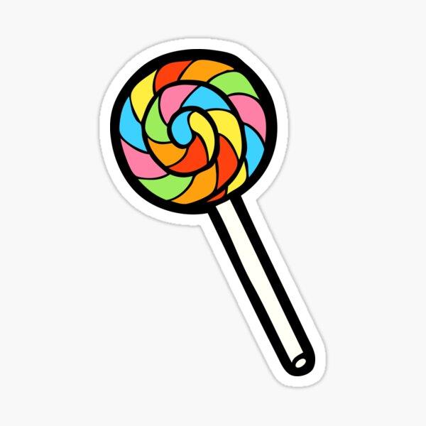 Rainbow Lollipop Pattern Sticker