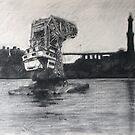 Old floating crane by Lorenzo Castello