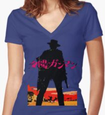 A Fistful of Yen Women's Fitted V-Neck T-Shirt
