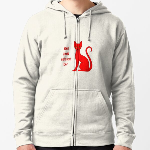 What Would Autisticat Do? Zipped Hoodie