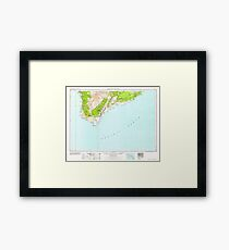 USGS TOPO Map Hawaii HI Hawaii South 349925 1962 250000 Framed Print