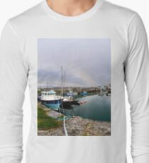 Hurry Head Harbour, Carnlough, County Antrim Long Sleeve T-Shirt