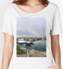 Hurry Head Harbour, Carnlough, County Antrim Women's Relaxed Fit T-Shirt