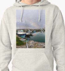 Hurry Head Harbour, Carnlough, County Antrim Pullover Hoodie