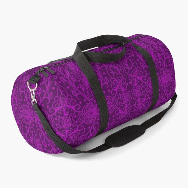 Purple Silhouette florals  Duffle Bag