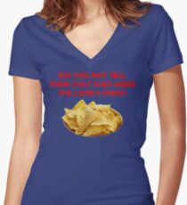 The Lord's Chips Women's Fitted V-Neck T-Shirt