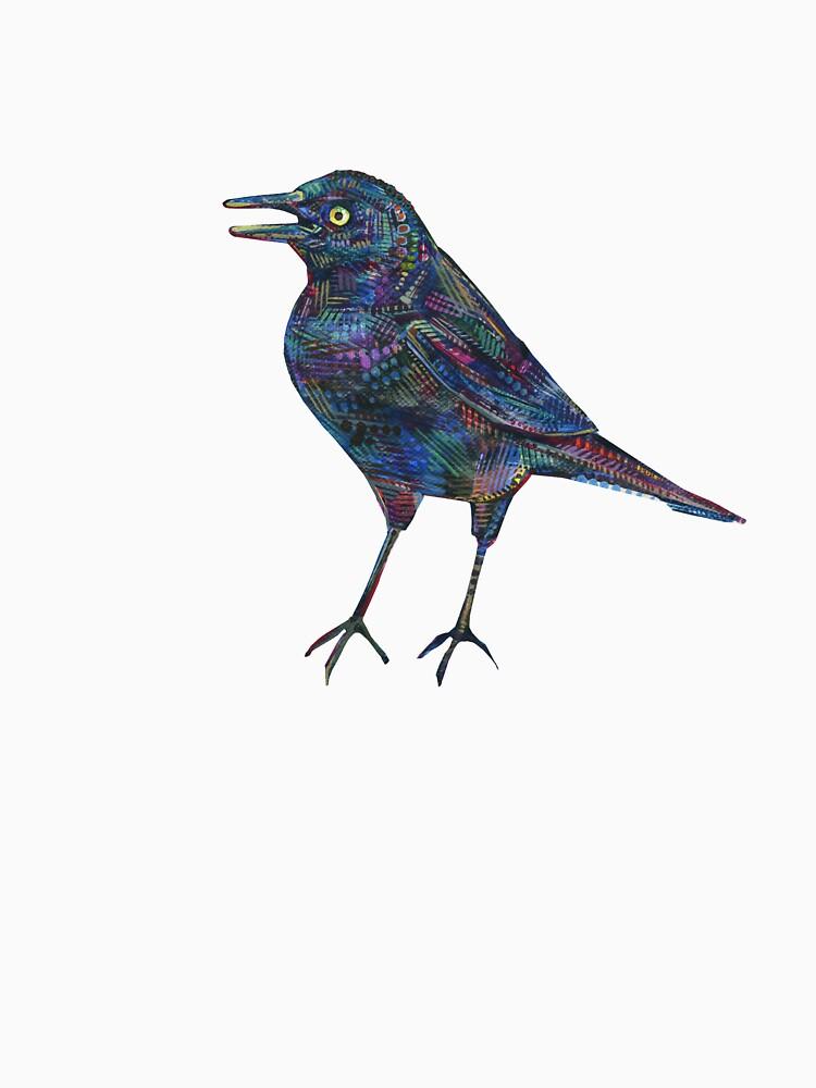 Rusty Blackbird Painting - 2016 by gwennpaints
