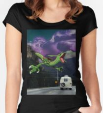 Rayquaza in the Valleys Women's Fitted Scoop T-Shirt