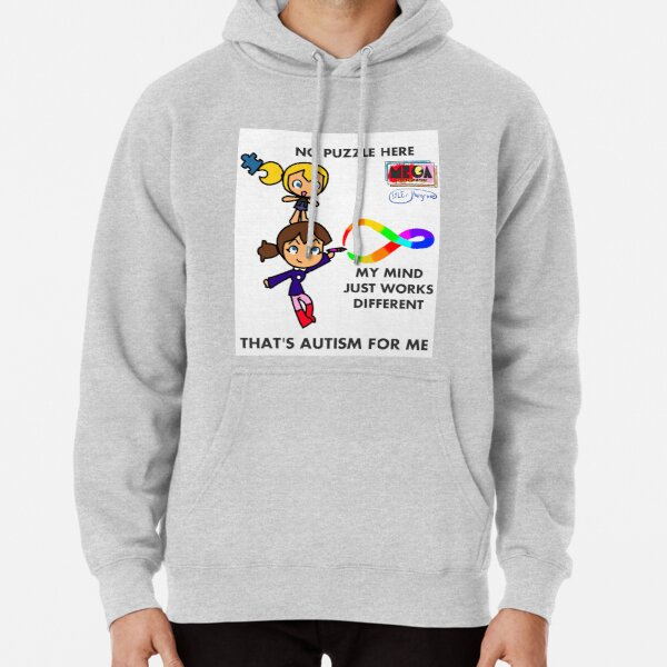 Autism: No Puzzle Here (Mega the Dreamer) Pullover Hoodie