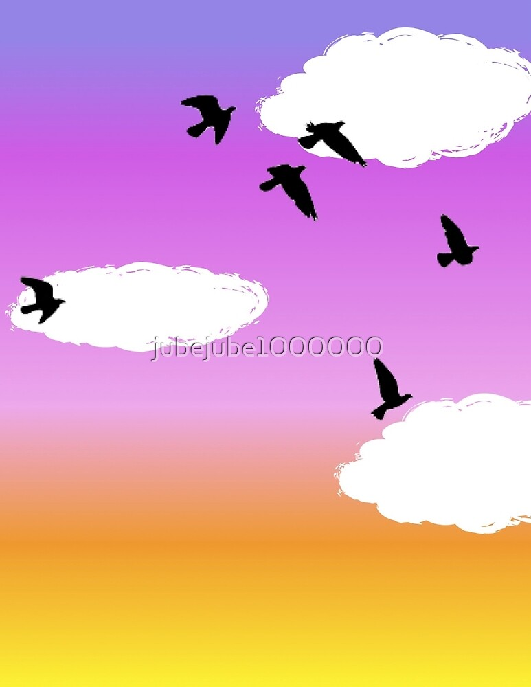 Birds in the Clouds by jubejube1000000