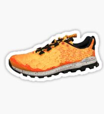 Running Shoe Orange Sticker